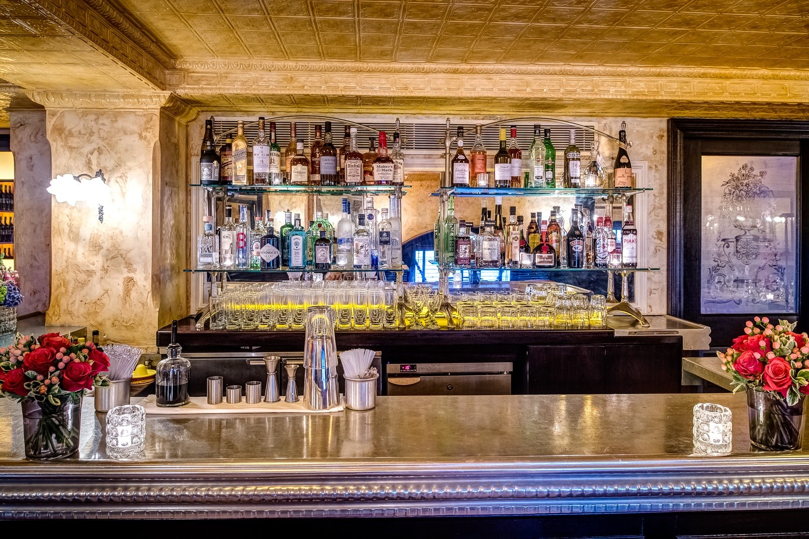 The Private Dining Room at Balthazar in Covent Garden has a Private Bar.