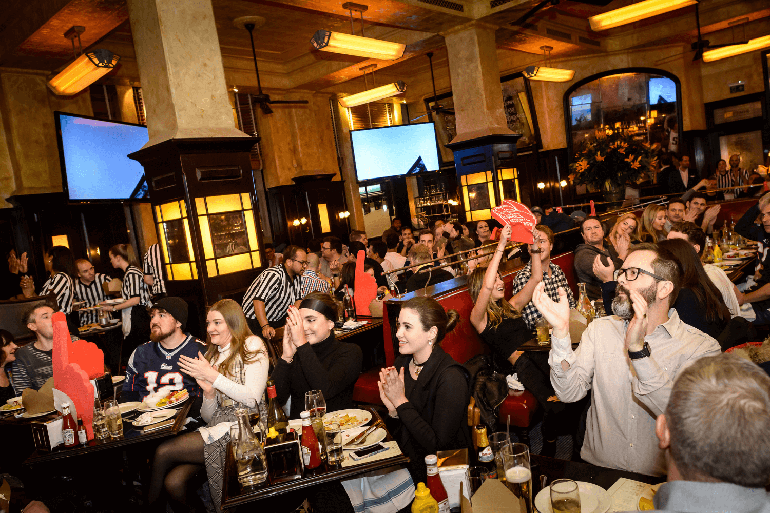 Super bowl in London at Balthazar