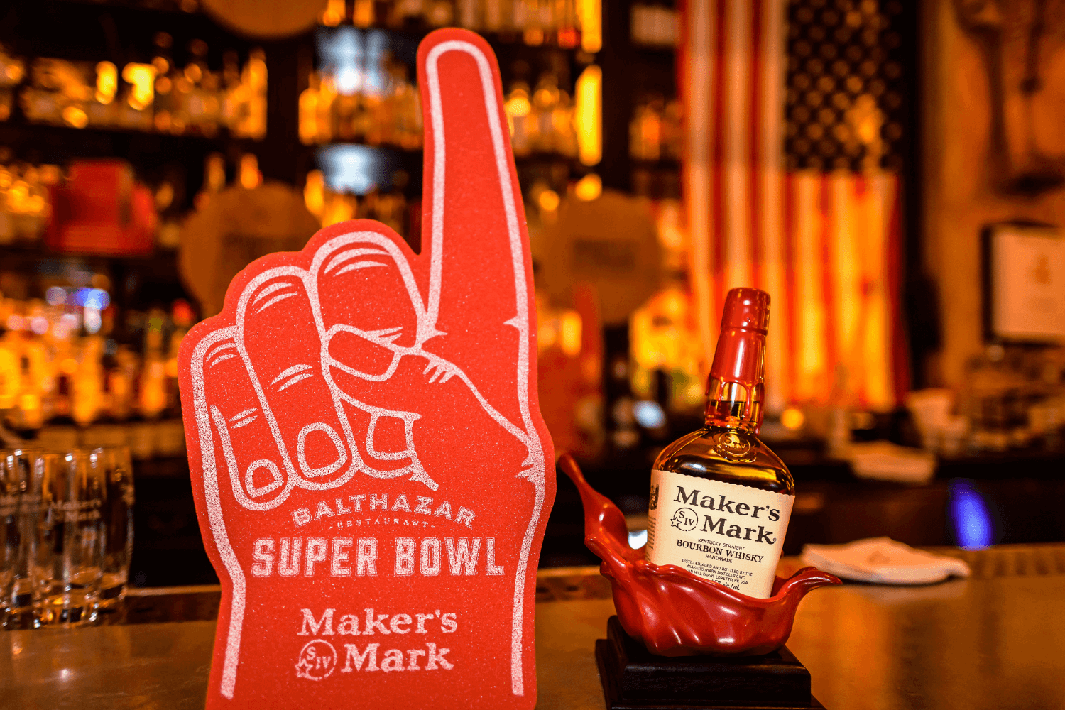 Super bowl 2019 event at Balthazar, London